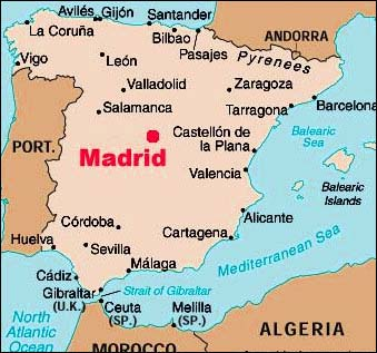 Madrid Map, Maps of Madrid Spain